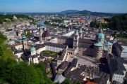 Salzburg from the hilltop castle