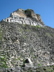 Xunantunich relief - to protect the originals their are hidden behind fibreglass replicas