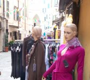 Mannequins in a funkt market on the verge of the old town