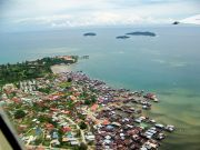 Views of Kota Kinabalu from plane