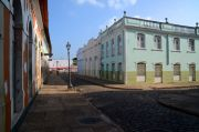 Empty spaces around the main market, Feira da Praia Grande
