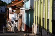 One of the narrow streets of the old town of Sao Luis