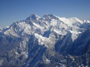 Aerial views of Mount Everest