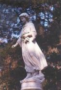 One of many statues in Bonaventure Cemetary