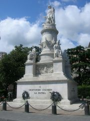 Christopher Columbus monument in Genoa.