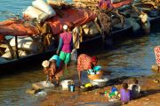 Segou riverbank business