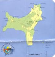 Christmas Island map looks like a little dog