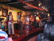 Luna Bar & Restaurant with a Filipino Rock Band, The Friction performing.