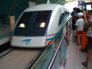 Maglev train, linking Pudong Airport with the central Shanghai