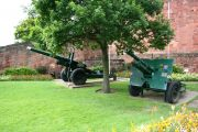 2 cannons outside Shrewsbury Castle