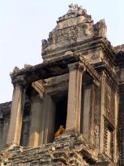Looking up to one of temples at the top of Angkor Wat