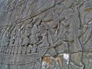 Going into battle. A section of the carving from of the Bayon.