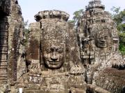 Some of the enigmatic faces of the Bayon in Angkor Thom