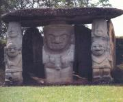some funerary statues of the DOBLE YO, in San Agustin