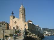 Sitges' landmark - the baroque church of