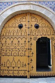 Entrance to Dar Essid Museum. The larger the door the richer the family.