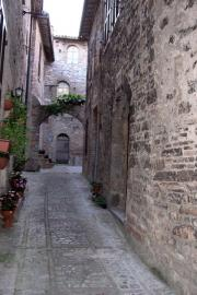 Typical street in Spello