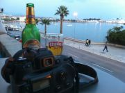 Teraca Bamba's view of the harbour of Split in the evening.