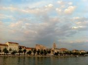 Split's southern seafront seen from the fishing harbour.