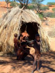 The San village on the Kalahari
