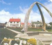 These whale bones, besides the Cathedral, are a landmark of Stanley