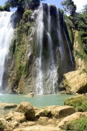The Curug Cikaso waterfalls