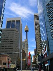 Centrepoint through the streets of Sydney