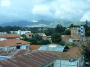 A view of the mountains from the roof  of the Hostal Carmen