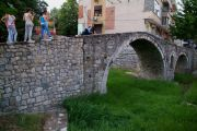 The small Ottoman Tanners' Bridge, now a spot to take posed photos.