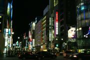 Ginza at night