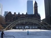 Skating in Nathan Philips Square