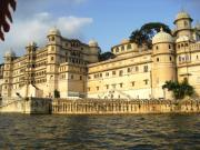 Exterior of the City Palace from Lake Pichola