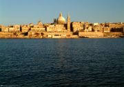 The view of Valletta from Sliema.