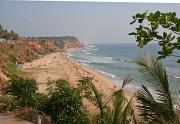 Varkala, or Panasam beach, is about one kilometre long.