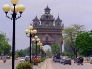 Patuxay Park with the Victory Gate