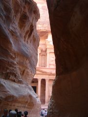 The Siq revealing the Treasury