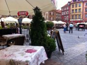 One of the cafes at the Old Town Square.
