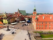 Plac Zamkowy (Castle Square) at the Old Town, photographed from a church bell tower.