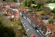 Mill Street seen from the top of the castle