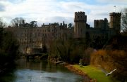 Warwick Castle seen from Avon River.