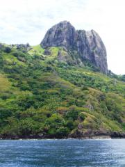 One of the cliff faces on the western side of Waya Island