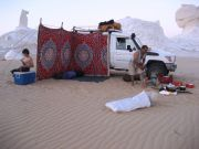 Our White Desert campsite as we start dinner. Our