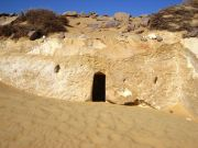 Miles from anything and anywhere, we came across this Phaoronic dwelling in the Desert
