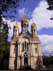 The russian church in Wiesbaden