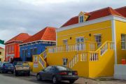 Willemstad. Coral houses.