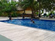 The pool area - and my first scuba lesson