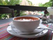 Spicy Tortilla Soup on the Main Plaza in Palenque