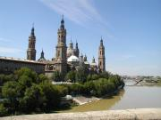 Full view of the Basilica from River Ebro