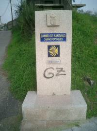 Sign on the Camino de Santiago