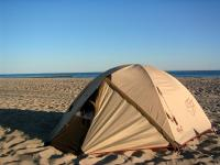 Warnemuende - camping on the beach